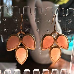 Anthropologie coral earrings